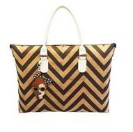 Chevron Convertible  Cork Handbag