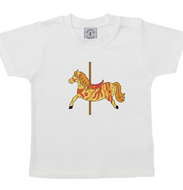 Carousel Horse unisex childrens short sleeve t shirt