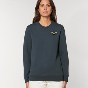 adults organic cotton bee sweatshirt