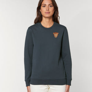 adults organic cotton monkey sweatshirt