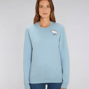 adults organic cotton polar bear sweatshirt