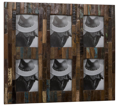 KAHAMA SIX - Reclaimed wood photo frame