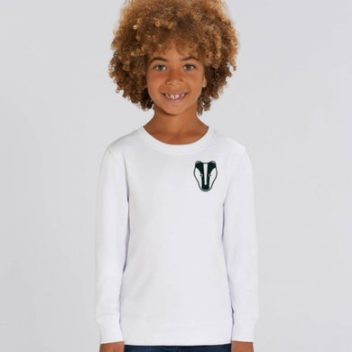childrens organic cotton badger sweatshirt