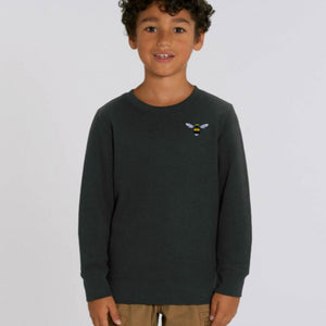 childrens organic cotton bee sweatshirt