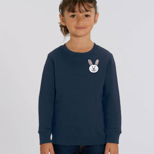 childrens organic cotton bunny sweatshirt