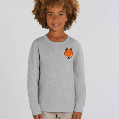 childrens organic cotton fox sweatshirt