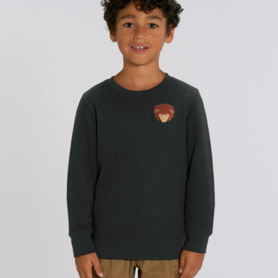 childrens organic cotton hedgehog sweatshirt