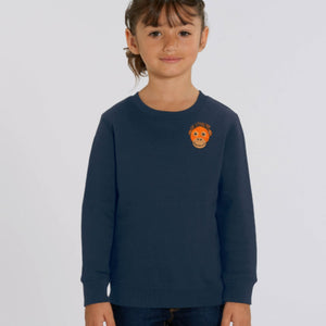childrens organic cotton orangutan sweatshirt