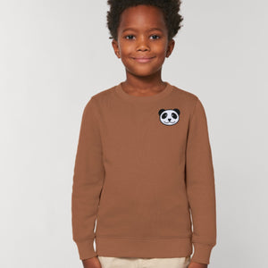 childrens organic cotton panda sweatshirt
