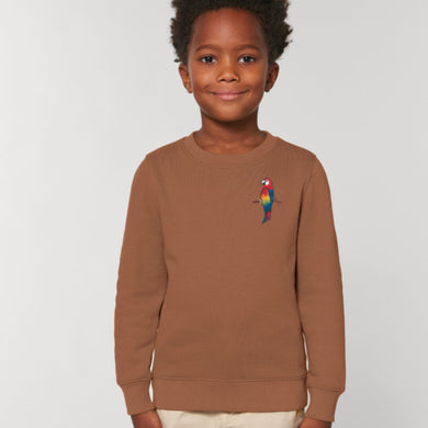 childrens organic cotton parrot sweatshirt