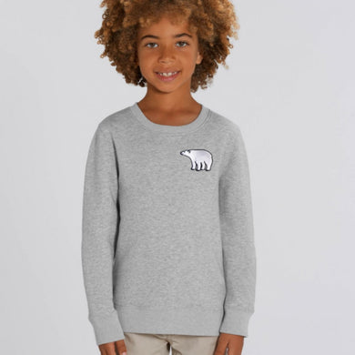 childrens organic cotton polar bear sweatshirt