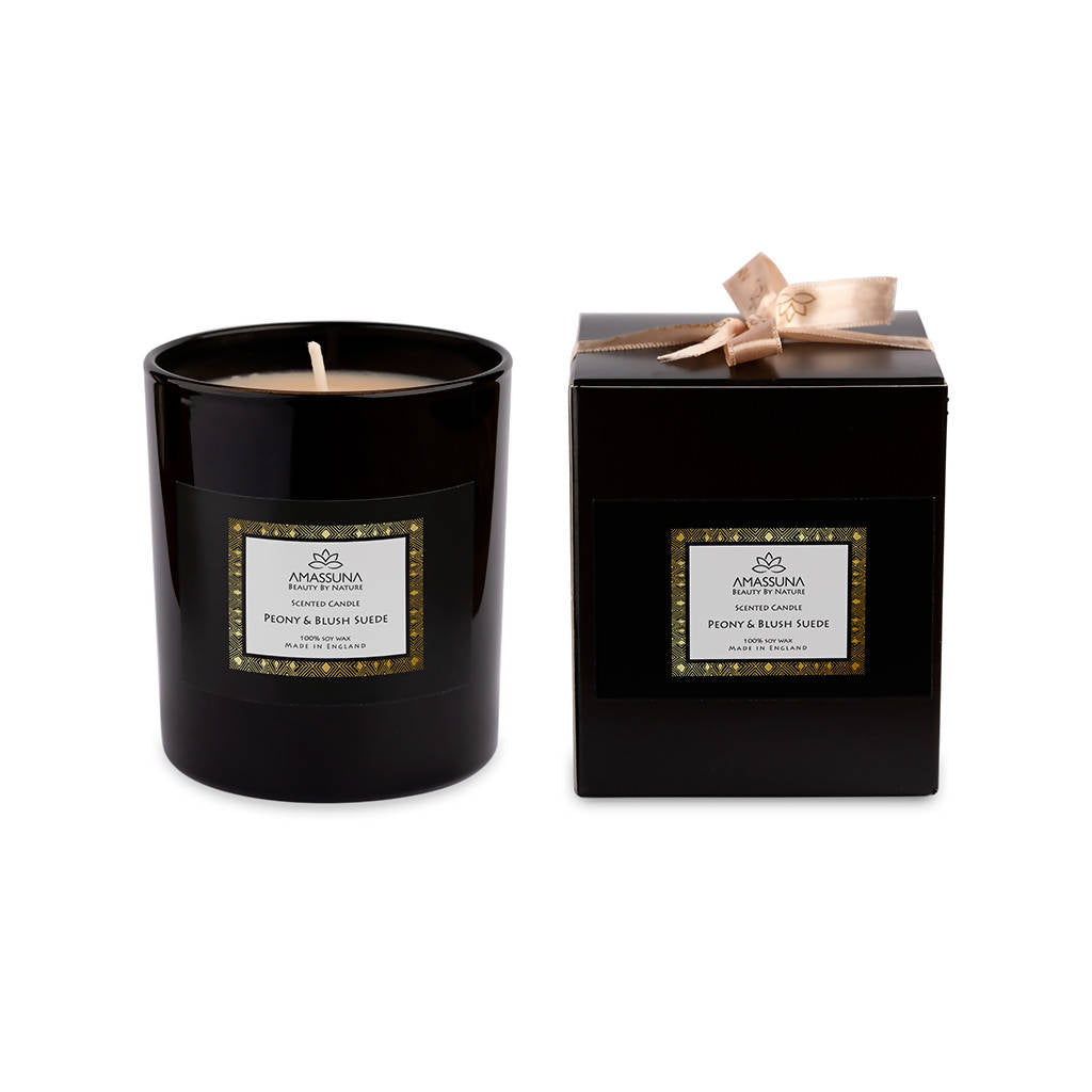 Luxury Soy Wax Scented Candle - Peony & Blush Suede 220g