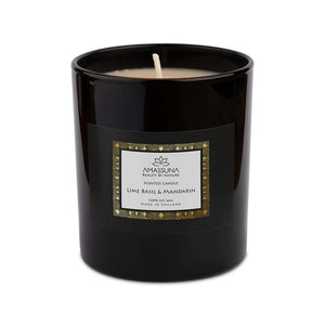 Luxury Soy Wax Scented Candle - Lime Basil & Mandarin 220g