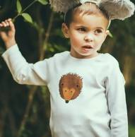 Hedgehog unisex childrens long sleeve t shirt