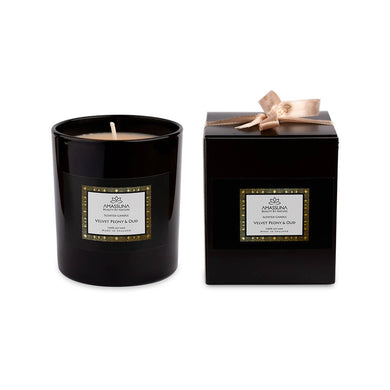Luxury Soy Wax Scented Candle - Velvet Peony & Oud 220g