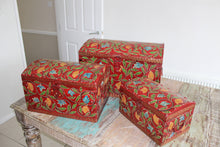 ENSEMBLE Boxes - Hand Painted Trinket Boxes - Set of 3 Boxes