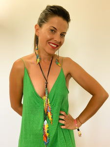 recycled inner tube statement necklace by Laura zabo