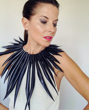 up cycled fashion accessories necklace inner tube necklace by Laura zabo