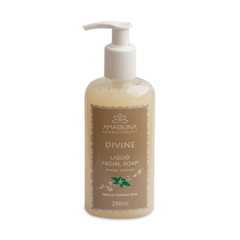 Vegan Liquid Facial Soap Divine - Natural & Purifying Skin Repair 250ml