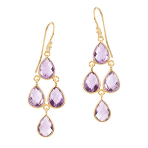 SOPHIA AMETHYST CHANDELIER EARRINGS