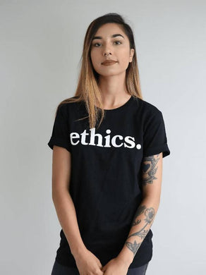 ethics. BLACK TEE