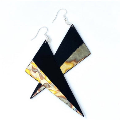 Gilded Vinyl Record Earrings