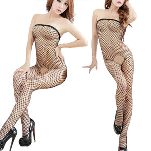 Open Crotch Bodystocking Sexy Lingerie