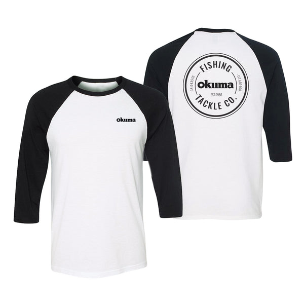 Okuma 3/4 Sleeve T-Shirt Black and White