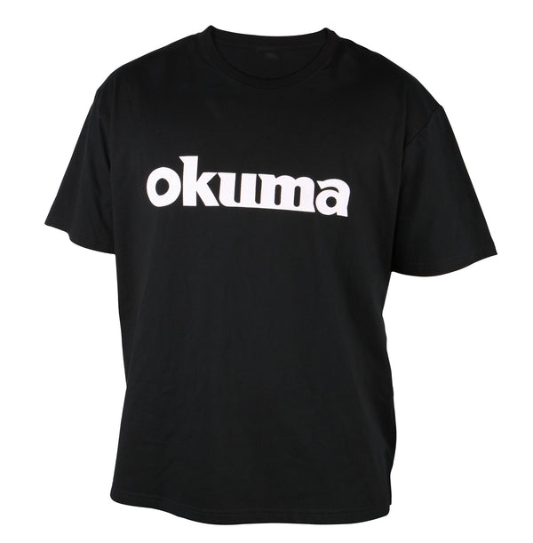 Okuma Logo Short Sleeve T-shirt-Black Motif