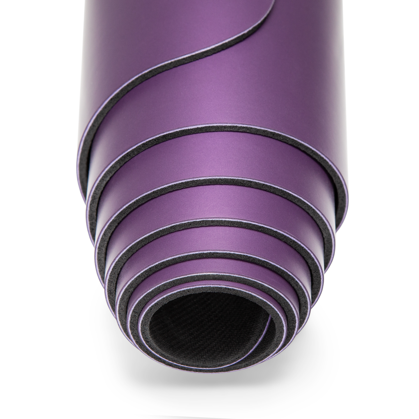 Mocana nimbus purple yoga mat with alignment and extra grip