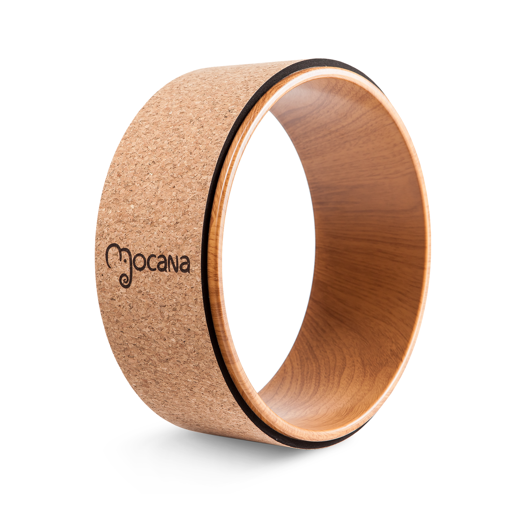wood cork yoga wheel