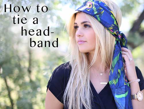 How to tie a headband