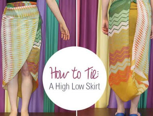 How to Tie a Scarf: High-Low Skirt
