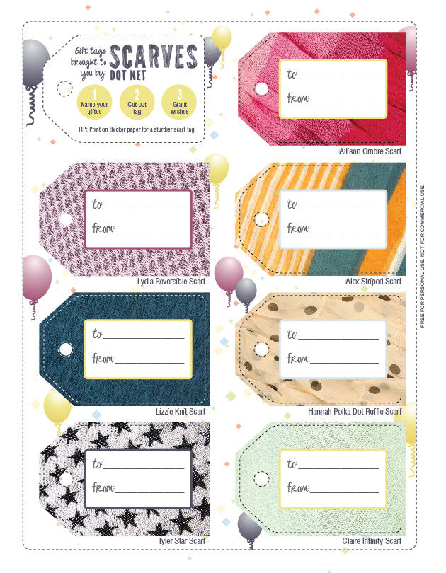 scarves.net gift tags