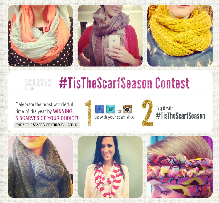 a selection of sample entries for the #TISTHESCARFSEASON PHOTO CONTEST!
