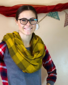 DIY No-Sew Circle Scarf