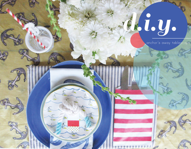 Anchors Aweigh summer soirée tablescape