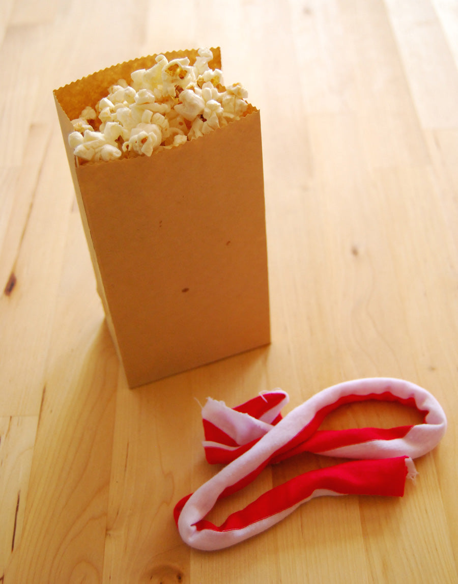 DIY Popcorn Bags Wrapped With Scarf Ribbon Step 2