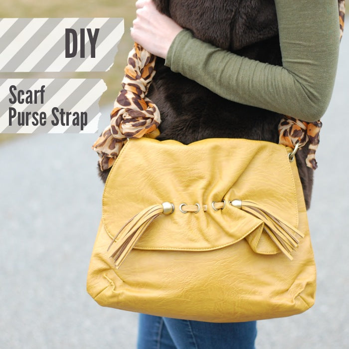 HOW TO USE A SCARF AS A PURSE STRAP