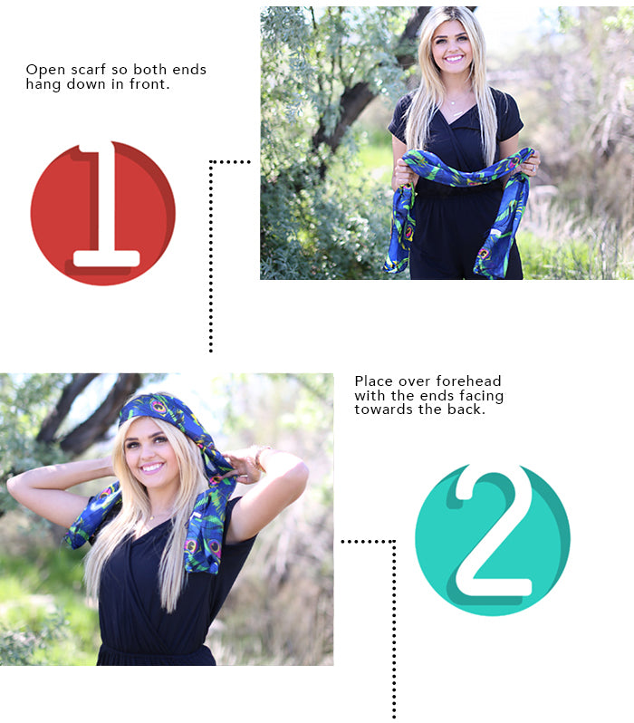 How To Tie A Headband 1-2