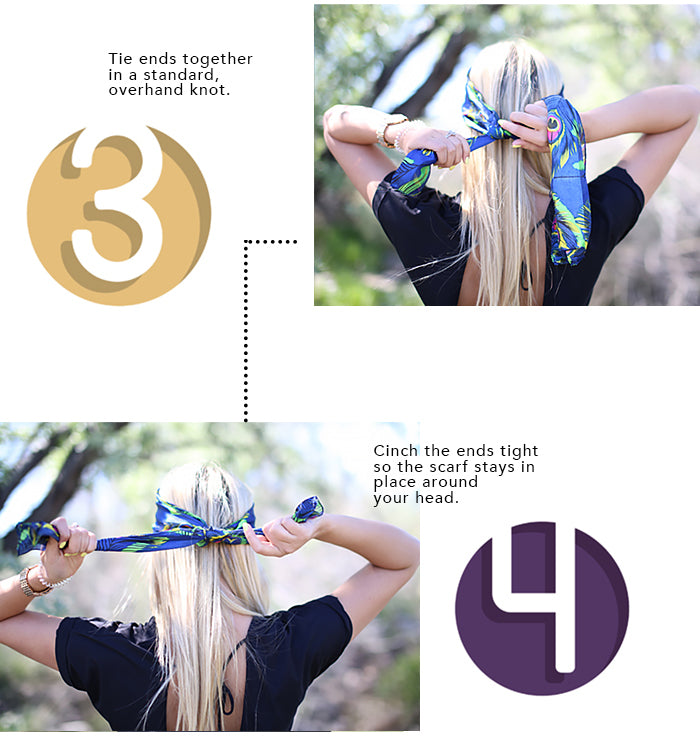 How To Tie A Headband 3-4