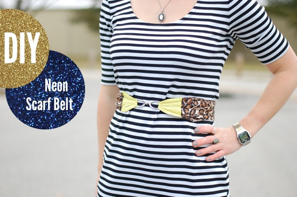 How to Make a Belt from a Scarf