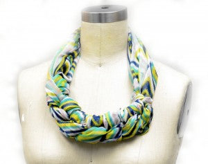 How to Tie a Scarf Braided Scarf Necklace