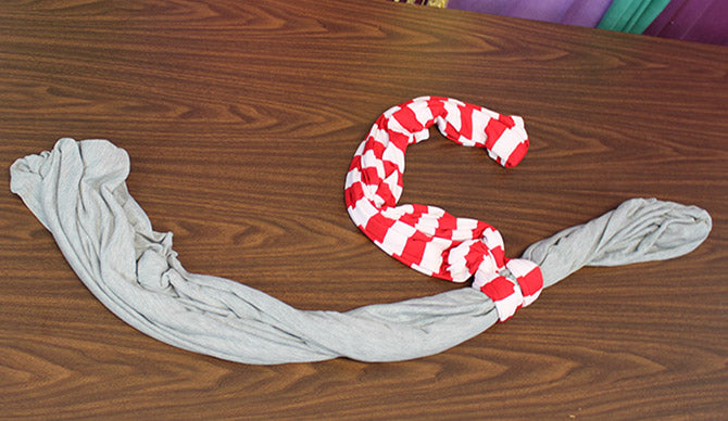 How to Tie a Scarf Double Scarf Anchor step 2