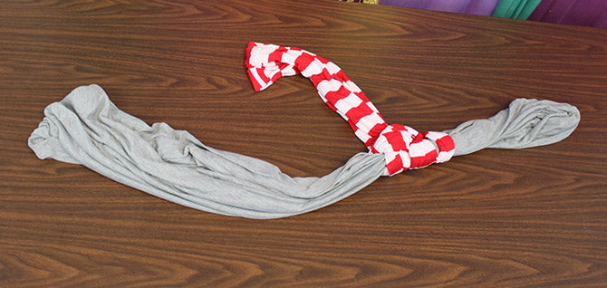 How to Tie a Scarf Double Scarf Anchor step 4