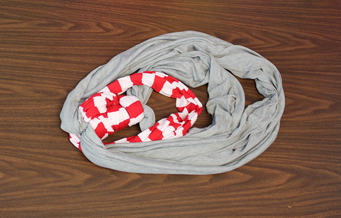 How to Tie a Scarf Double Scarf Anchor step 7