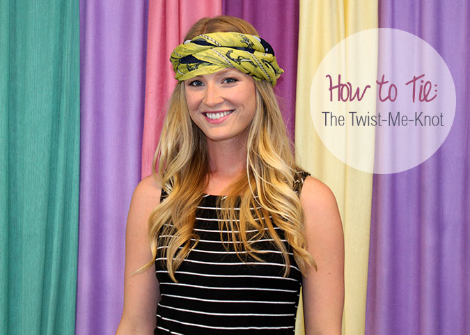 How to Tie a Scarf Twist-Me-Knot