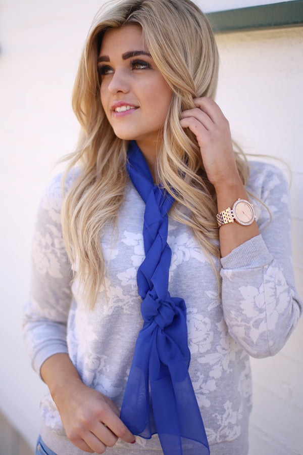 jane scarf blue