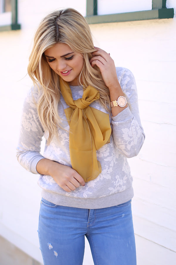 jane scarf yellow