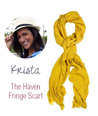 Krista Haven Fringe Scarf
